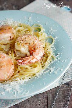 Spaghetti mit Scampis