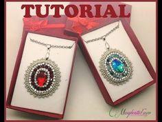Bead tutorial: embroidery beads   brick stitch pendente natalizio