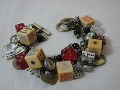 Upcycled Jewelry  Repurposed Gaming Piece Themed by thekeyofa, $168.00