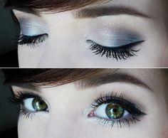 Frosty Summer Look - With Tutorial - Green eyes are so beautiful!