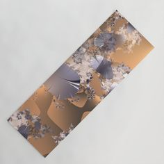 Platinum leaves and fractal vines on gold and copper background Yoga Mat by Coleggenna Fractals, Vines, Copper, Leaves, Yoga, Lifestyle, Brass, Arbors, Grape Vines