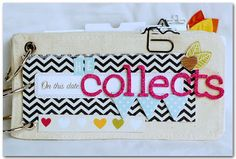 Amazing mini album by Anabelle O'Malley using American Crafts products