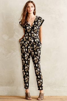 Rock a floral jumpsuit this spring.