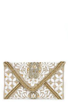 Bangalore Palace Gold Beaded Clutch at Lulus.com!