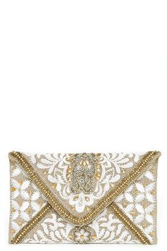 Bangalore Palace Gold Beaded Clutch at Lulus.com!
