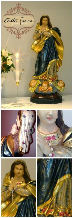 Atelier Gina Pafiadache: Arte Sacra: Nossa Senhora da Imaculada Conceição