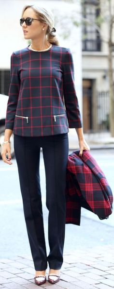 I think I like the plaid trend coming back...Plaid On Plaid by The Classy Cubicle