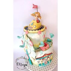 Luna park cake by Branka Vukcevic Themed Birthday Cakes, Themed Cakes, Beautiful Cakes, Amazing Cakes, Carnival Cakes, Fantasy Cake, Baby Girl Cakes, Cupcake Cakes, Kid Cakes