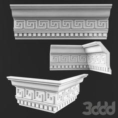 3d модели: Лепнина - Карниз потолочный