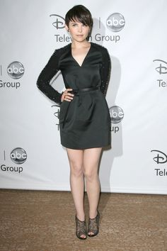 I love this embellished sleeve thing that's new for fall. And LOVE her hair. Ginnifer is my lady friend. I wish.