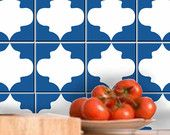 Tile decal :Classic Moroccan single Tile Pattern