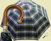 Brigg golf umbrella «Chestnut» Tartan blue