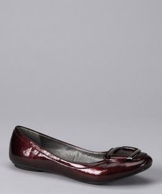 Take a look at this Dark Red Goal Flat  by If The Shoe Fits: Women's Footwear on #zulily today!