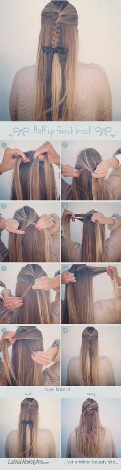 How to Create the Perfect Half Up French Braid
