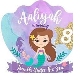 Little Mermaid Invitation. Mermaid Birthday, Girl Birthday, Birthday Parties, Cute Mermaid, The Little Mermaid, Little Mermaid Invitations, Unicornios Wallpaper, Tropical Party, Party Guests