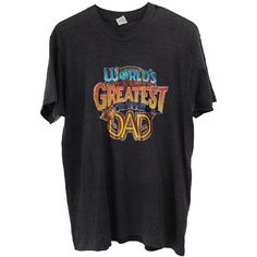 Vintage Father's Day Dad T-shirt 80's Worlds Greatest Dad Shirt Size... (€12) ❤ liked on Polyvore featuring tops, t-shirts, 80s tees, fitted shirts, 1980s t shirts, vintage tees and 80s tops