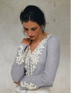 Anthropologie Sparrow Periwinkle Frost Cardigan RARE Lambswool Sweater Size S | eBay