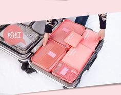 6pcs/lot set men and women Travel accessories waterproof clothing& underwear storage bags luggage packing organizers