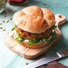 Vegan Curried Sweet Potato Burger | Vegans do need to give up this classic summertime meal, just tweak it a bit.  These curried sweet potato burgers are served with a sweet tomato chutney and cilantro aioli. @mydarlingvegan