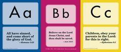Miniature ABC Bible Memory Cards (old) - Exodus Books