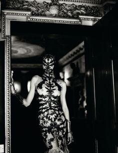 Metal Headz:  Photographed by Mert & Marcus. Fashion editor: Karl Templer. Models: Elise Crombez, Saskia de Brauw. Interview Magazine, March 2012
