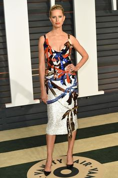 Karolina Kurkova wore a Schiaparelli Haute Couture dress to the Academy Awards 2015 After Party