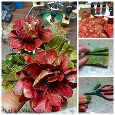 How to Make Fall Flowers   Pluckingdaisies.com #Fall #Flowers #RangerInk #Tutorial