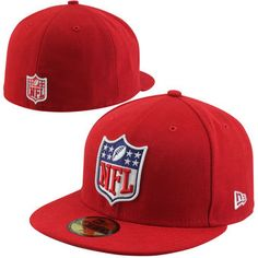 New Era NFL Shield 59FIFTY Fitted Hat - Red