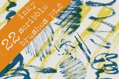22 Inky Scribble Brushes - Pt. 2 by KatieAllen on @creativemarket