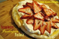Strawberry-Passionfruit Pavlova