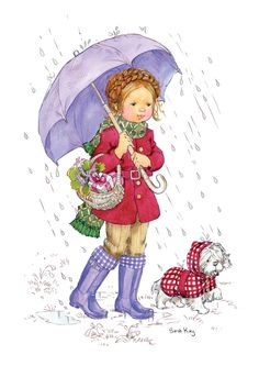 Charlotte and Pepe Walking in the Rain - Sarah Kay