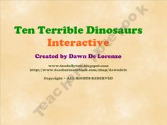FREE SmartBoard Interactive for Ten Terrible Dinosaurs by Paul Stickland:)