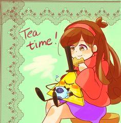 Art by 嘴星 (@c_dfd) | Mabill — It's Tea Time | Twitter