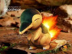 Realistic Pokemon: Cyndaquil by KaiKiato on DeviantArt Kalos Pokemon, 3d Pokemon, Cool Pokemon Cards, Pokemon Funny, Pokemon Fusion, Pokemon Remake, Pokemon Na Vida Real, Pokemon In Real Life, Totoro