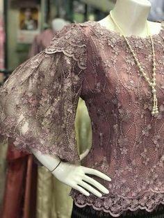 Kebaya Lace, Kebaya Brokat, Kebaya Dress, Dress Pesta, Kebaya Hijab, Batik Fashion, Abaya Fashion, Fashion Dresses, Batik Dress