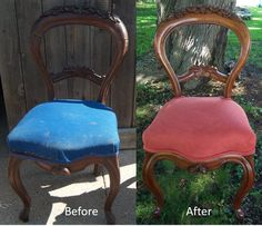 Restored old antique chair
