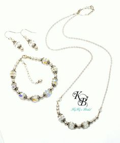 Wedding Jewelry Set Crystal Bridal Jewelry by KyKysBridalBoutique, $120.00 #bridaljewelryset