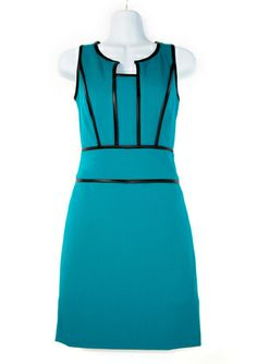 On ideeli: MARC NEW YORK Sleeveless Dress with Faux Leather Piping