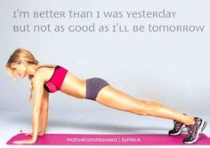 I need to remember this when my plank looks nothing like that.