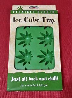 STONERWARE MARIJUANA MARY JANE POT LEAF ICE CUBE TRAY FLEXIBLE RUBBER STONER  #Stonerware