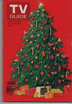 Vintage TV Guide Magazine Dec 1925 1981 Christmas by wolfmansmummy, $5.00