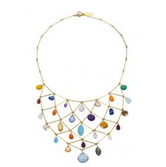 Multi-stone bib necklace by Wendy Mink- WANT for New Year's eve!