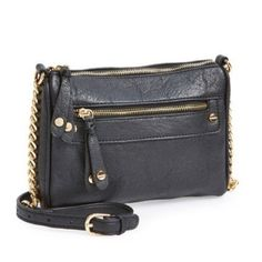 black gold stud crossbody bag new Nail-head studs give a utilitarian-chic finish to a faux-leather crossbody with just-right proportions. An adjustable chain-detailed strap allows you to customize the length for comfortable carrying. Bags Crossbody Bags