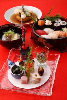 Kaiseki Japanese food in summer Japanese Food Art, Japanese Dishes, My Favorite Food, Favorite Recipes, Bento, Food Presentation, Food Styling, Asian Recipes, Love Food