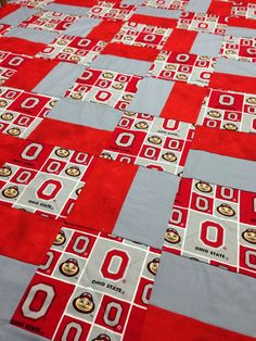 Cutting & piecing for Block O from 2 strip sets | quilt | Pinterest : ohio state quilt kits - Adamdwight.com