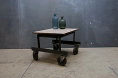 Railroaders Canvas Top Cart Table : Factory 20