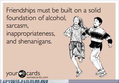 Hahahah friendships