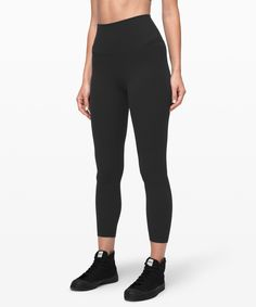 Shop the Align Pant II Women's Yoga Pants. Designed to minimize distractions and maximize comfort, these lightweight pants give you full freedom to move. The high rise covers your core, lies smooth under tops, and won't dig in. Legging Outfits, Black Leather Leggings, Black Pants, Lululemon Align Pant, Under Pants, Lulu Lemon, Athletic Pants, Workout Wear, Workout Leggings