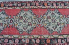 runner rug faded rug distressed rug anatolian by realvintageshop