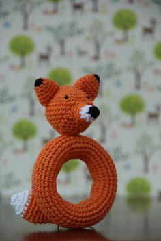 Crochet Fox Rattle Pattern von haakensmaak auf Etsy